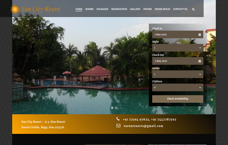 Website development for Hotels